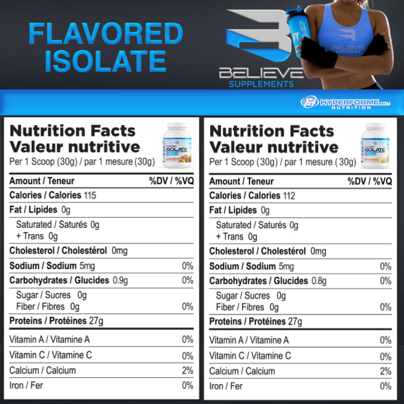 Believe Flavored Isolate - 4.4lb nutri 1