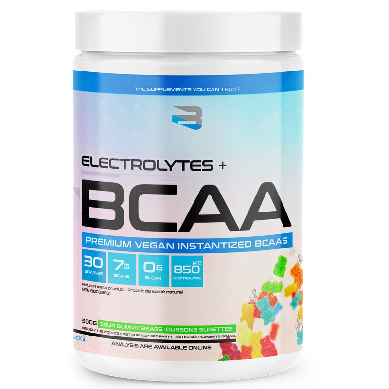 Believe BCAA + Electrolytes - 30 Servings Sour Gummy Bears