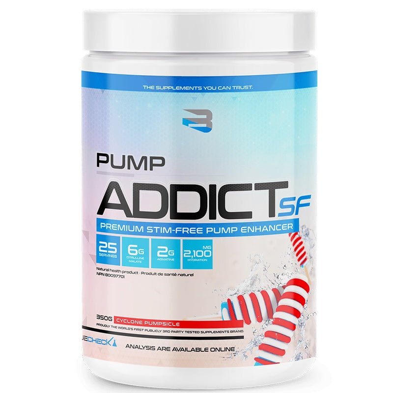 Believe Pump Addict Stimulant Free - 25 Servings Cyclone Pumpsicle