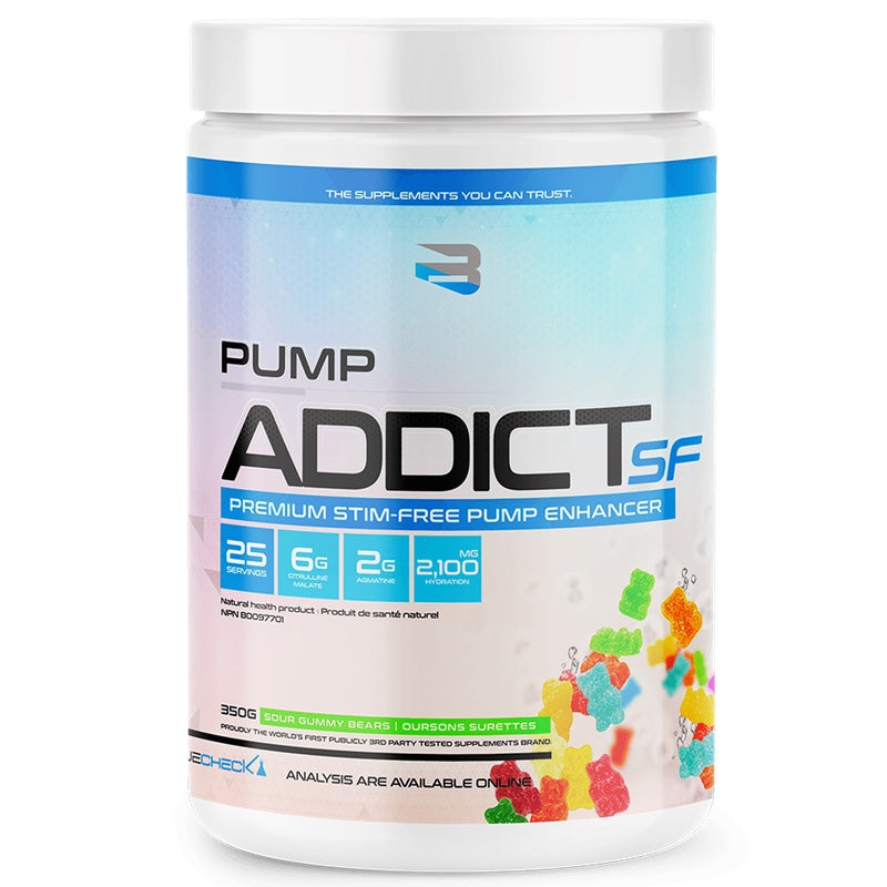 Believe Pump Addict Stimulant Free - 25 Servings Sour Gummy Bears