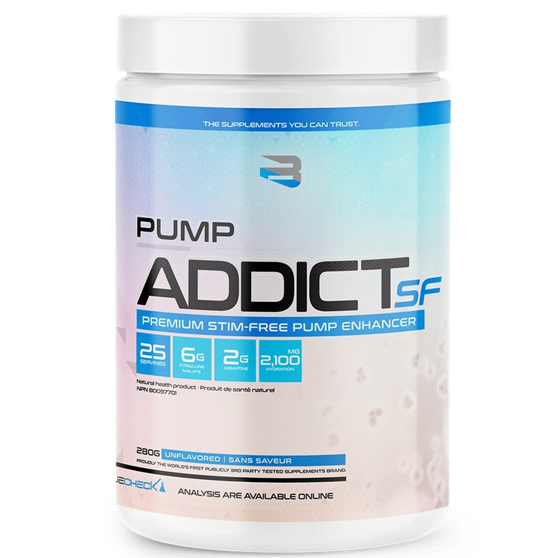 Believe Pump Addict Stimulant Free - 25 Servings Unflavored