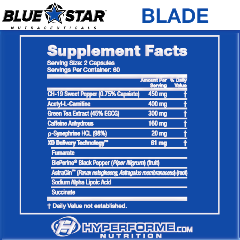 Blue Star BLADE NUTRITION FACTS (2465852457037)