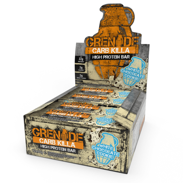 Grenade Bar Carb Killa - 12 Bars White Chocolate cookie (2465882275917)