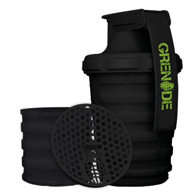 Grenade Shaker With Protein Compartment Black (2465876607053)