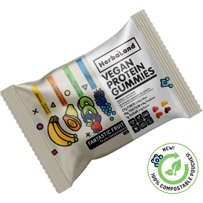 Herbaland Vegan Protein Gummies - Fantastic Fruit