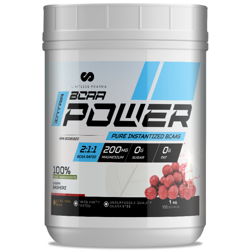 LIMITLESS PHARMA BCAA Power  CHERRY BASHERZ- 1kg (2465878442061)