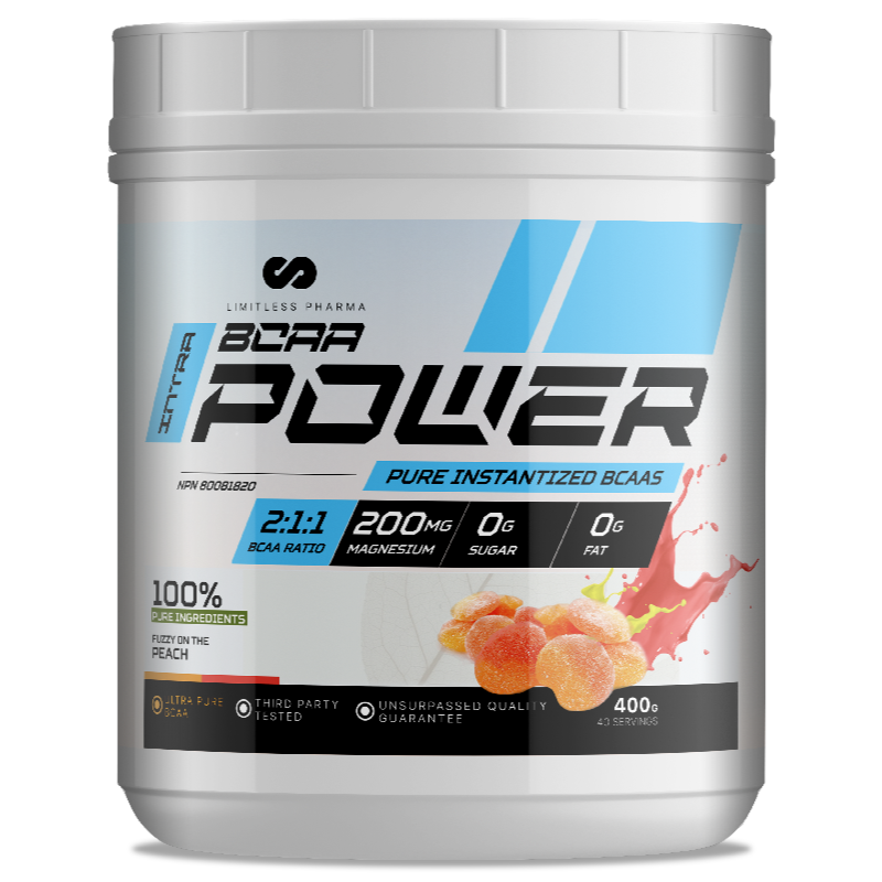 LIMITLESS PHARMA BCAA Power  FUZZY ON THE PEACH-400g (2465878868045)