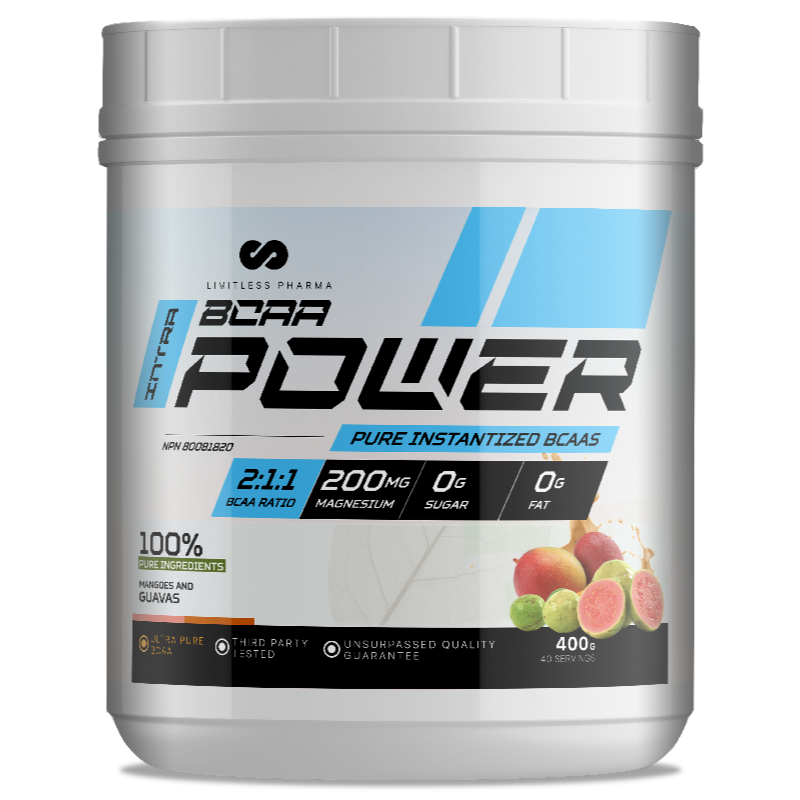 LIMITLESS PHARMA BCAA Power  MANGOES AND GUAVAS- -400g (2465878868045)