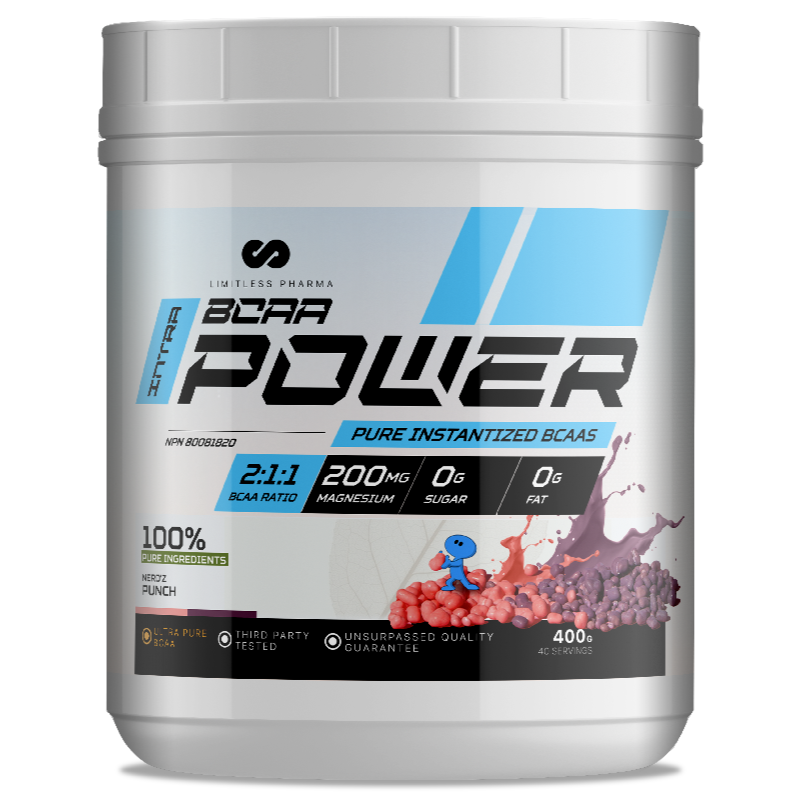 LIMITLESS PHARMA BCAA Power  NERDZ PUNCH-400g (2465878868045)