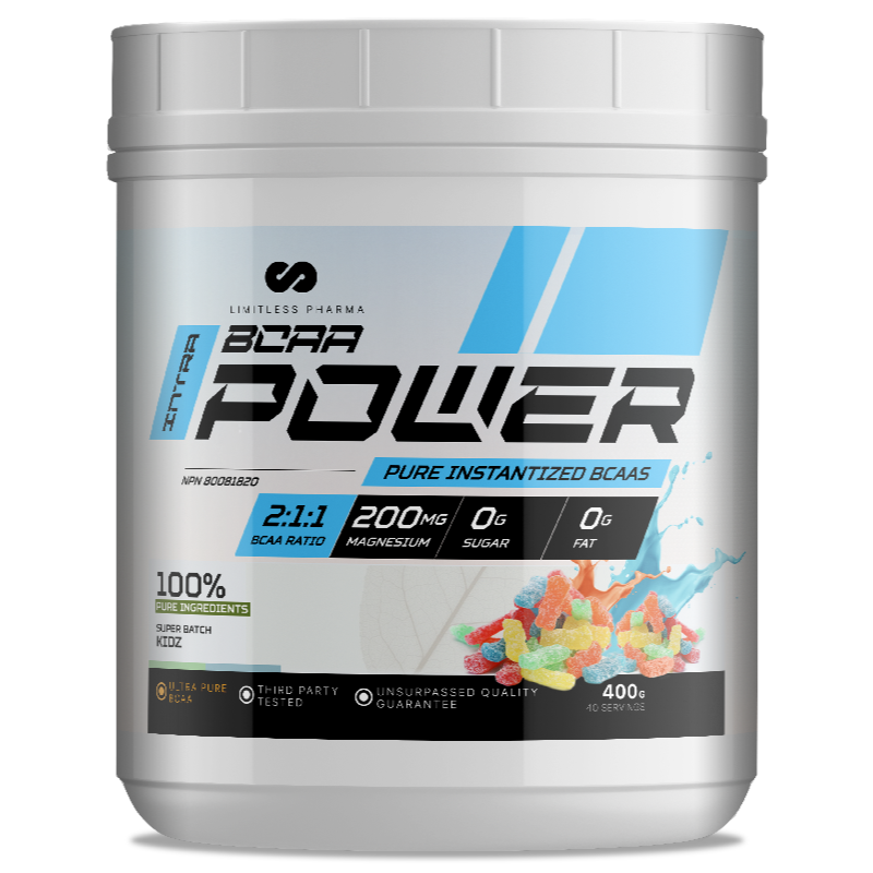 LIMITLESS PHARMA BCAA Power SUPER BATCH KIDZ- 400g (2465878868045)