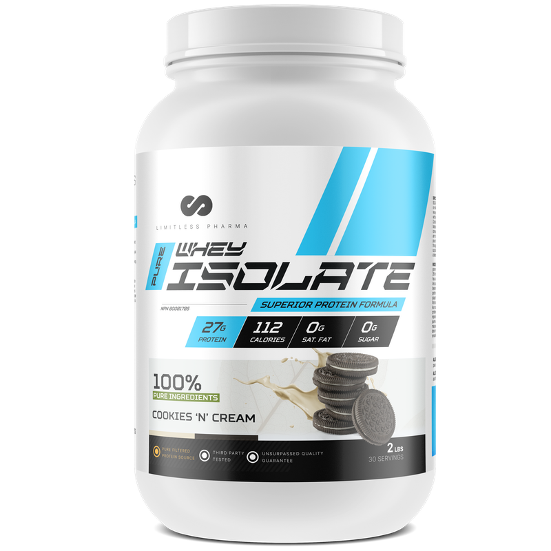 LIMITLESS PHARMA Isolate Whey Protein cookies and cream (2465878147149)