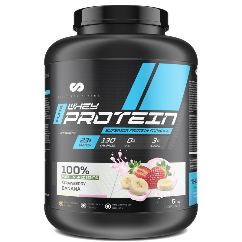 Limitless Pharma Advanced Whey Protein - 5lb Strawberry Banana