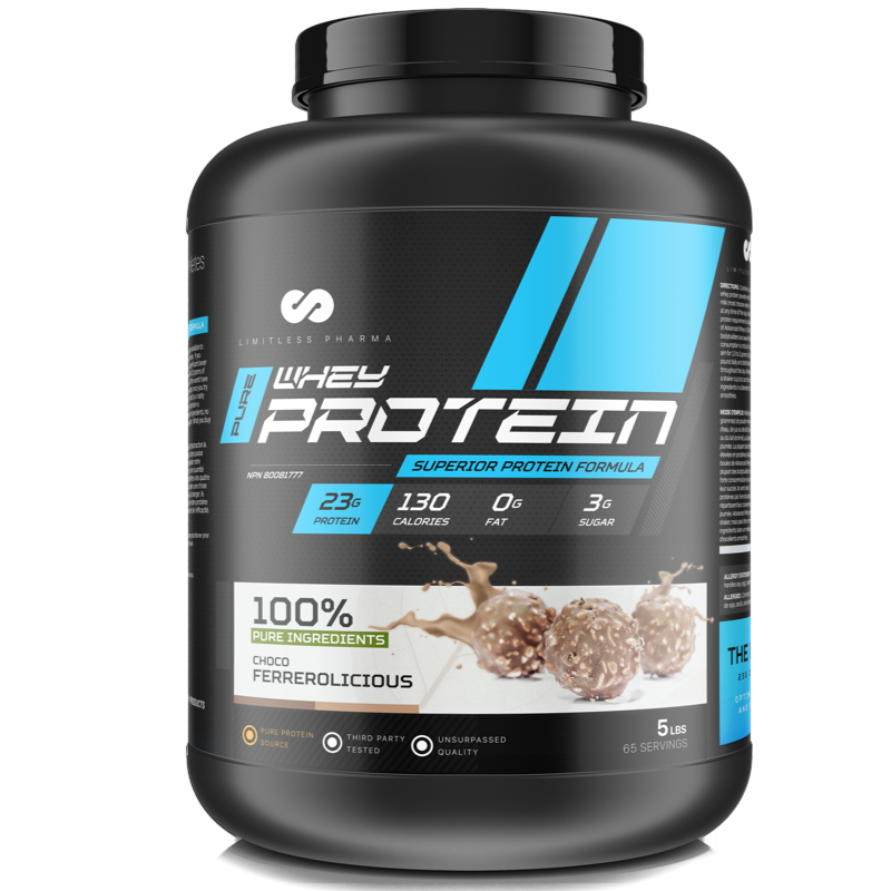 Limitless Pharma Advanced Whey Protein - Choco Ferrerolicious 5lb (2465879752781)