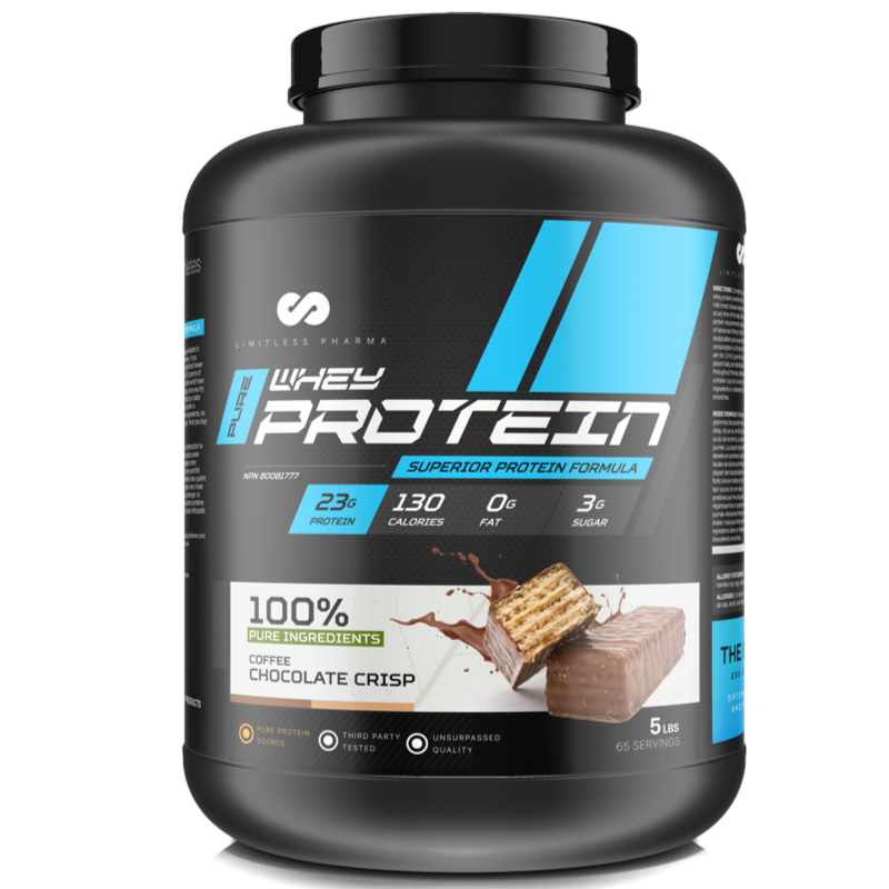 Limitless Pharma Advanced Whey Protein - Coffee Chocolate Crisp 5lb (2465879752781)
