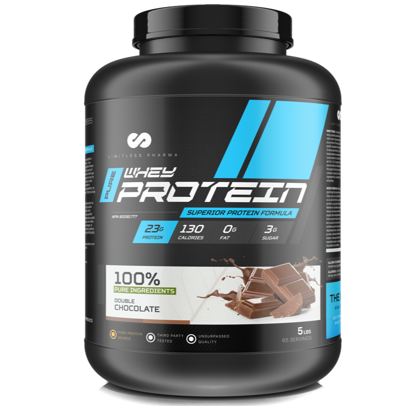 Limitless Pharma Advanced Whey Protein - Double Chocolate 5lb (2465879752781)