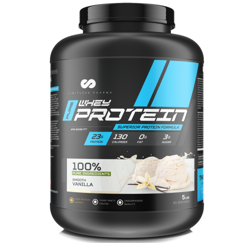 Limitless Pharma Advanced Whey Protein - Smooth Vanilla 5lb (2465879752781)
