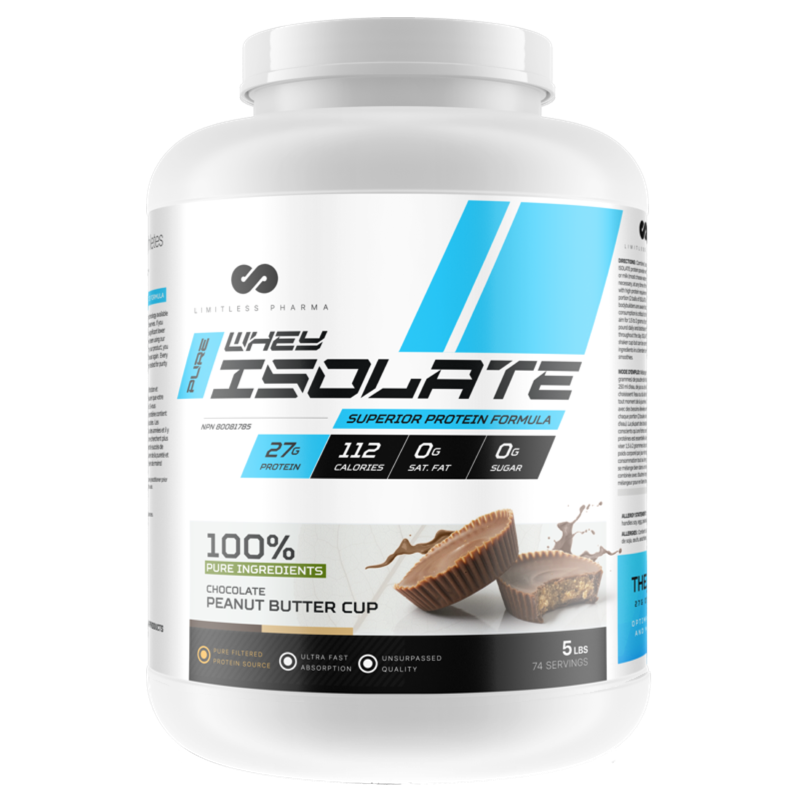 Limitless Pharma  Isolate Whey Protein - Chocolate Peanut Butter Cup 5lb (2465877688397)