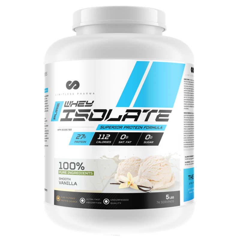 Limitless Pharma  Isolate  - Smooth Vanilla 5lb (2465877688397)