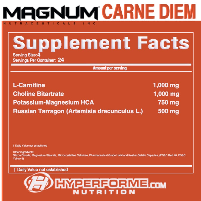 Magnum Carne diem SUPPLEMENT FACTS