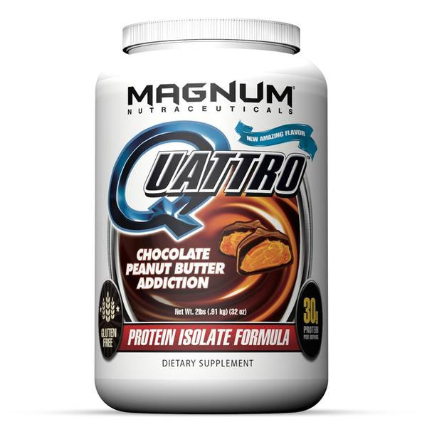 Magnum Nutraceuticals Quattro - 2lb Chocolate Peanut Butter Addiction (2465807761485)
