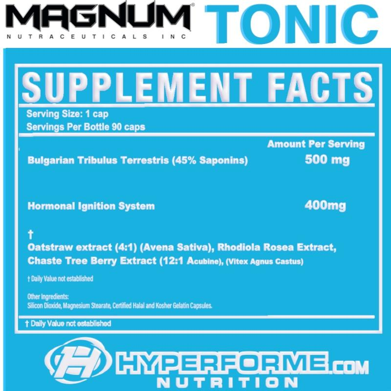 Magnum_Tonic SUPPLEMENT FACTS