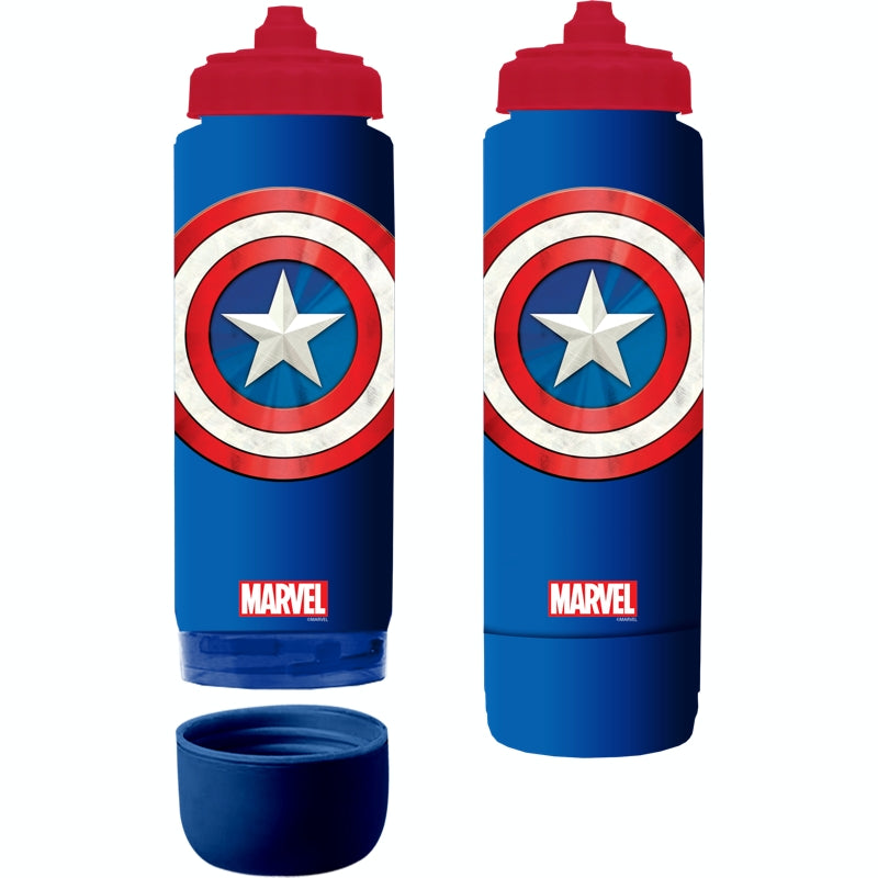 Marvel water bottle 700ml - Captain America Specs