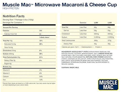 Muscle Mac Microwave Macaroni & Cheese - 1 Cup nutri (2465861042253)