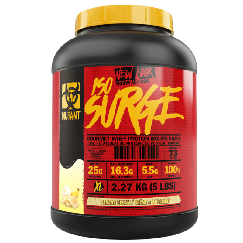 Mutant Iso-Surge Banana Cream   - 5lb (2465848066125)