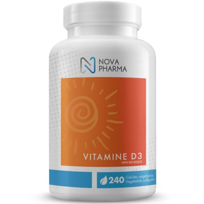 Nova Pharma Vitamin D3 1000iu - 240 Gel Caps