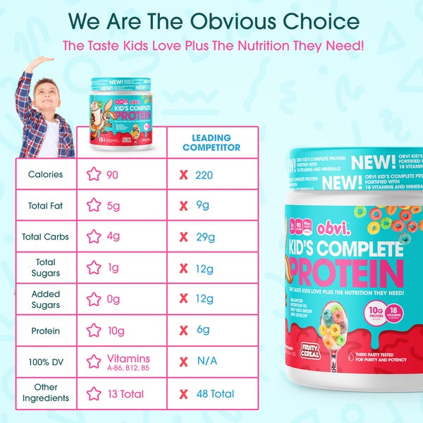 OBVI Kid's Complete Protein - 15 Servings Info