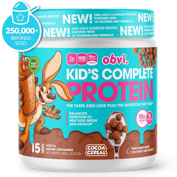 OBVI Kid's Complete Protein - 15 Servings Cocoa