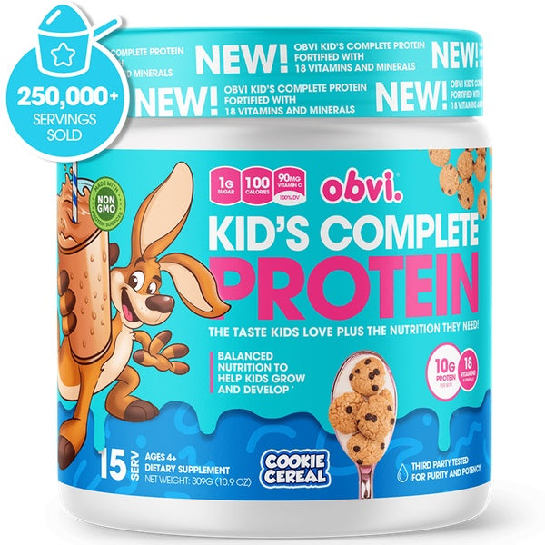 OBVI Kid's Complete Protein - 15 Servings Cookie Cereal
