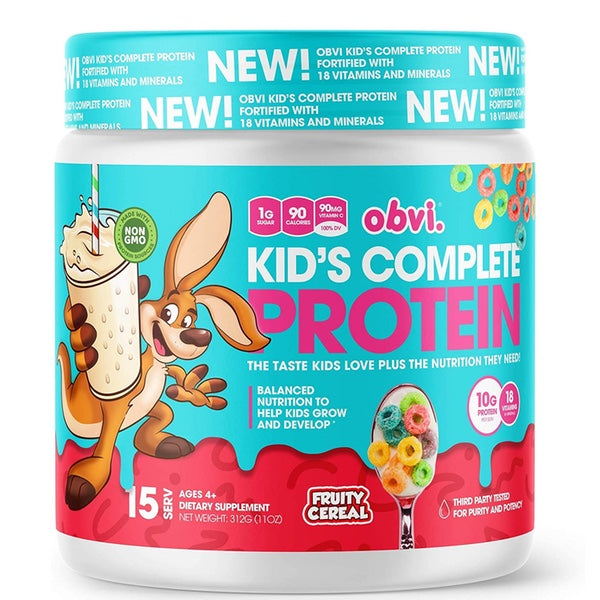OBVI Kid's Complete Protein - 15 Servings Fruity Cereal