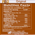 PB2 Powdered Peanut Butter Original  nutrition facts (4319062425677)