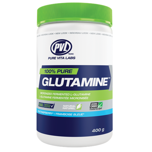 PVL Pure Vita Labs Glutamine - 400g Blue Raspberry (2465874116685)