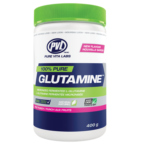 PVL Pure Vita Labs Glutamine - 400g Fruit Punch (2465874116685)