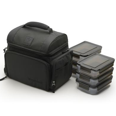 Performa All in One 6 Meal Prep Bag - Black / Black