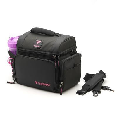Performa All in One 6 Meal Prep Bag - Pink / Black info (2465893122125)