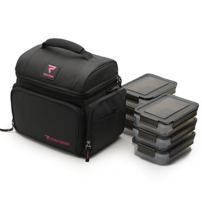 Performa All in One 6 Meal Prep Bag - Pink / Black (2465893122125)