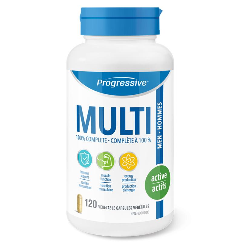 Progressive MultiVitamin Active men_120 caps