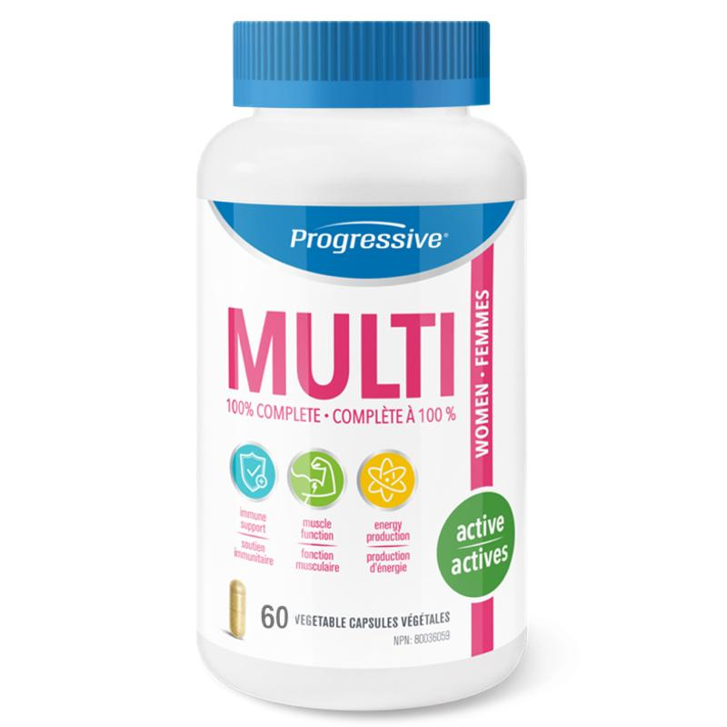Progressive MultiVitamin Active Women - 60 caps