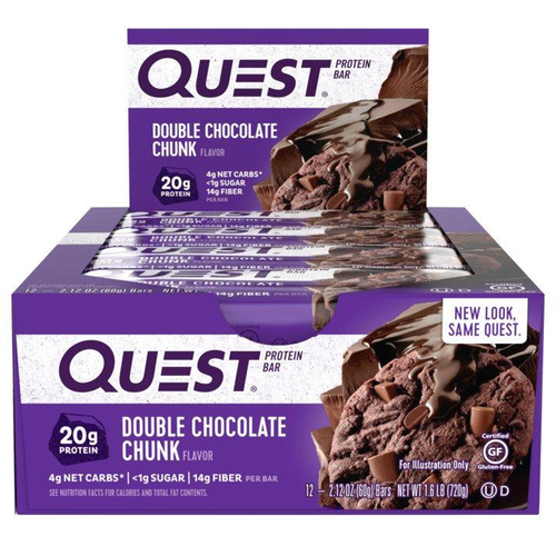 Quest Bars  - 12 Bars Double Chocolate Chunk (3445122564173)