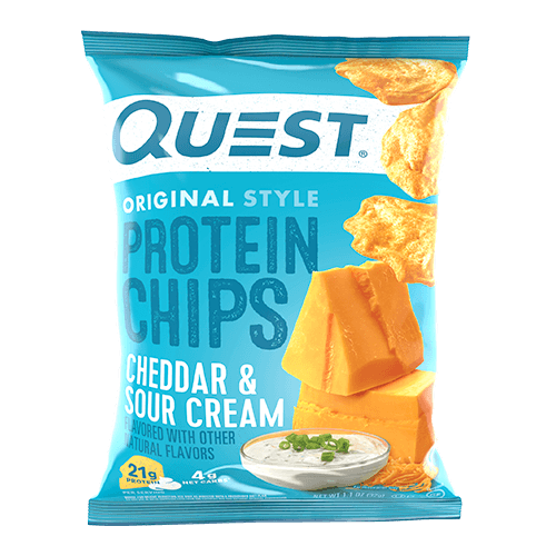 Quest Protein Chips - Tortilla Style Cheddar & Sour Cream (3782777503821)