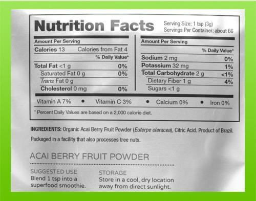 Raw-Nutritional-Acai-Berry-Powder-information
