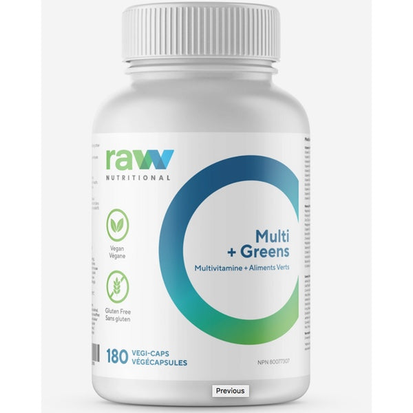 Raw Nutritional Multi + greens - 180 Caps