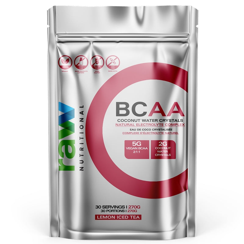 Raw Nutritional BCAA - 30 Servings Lemon Iced Tea