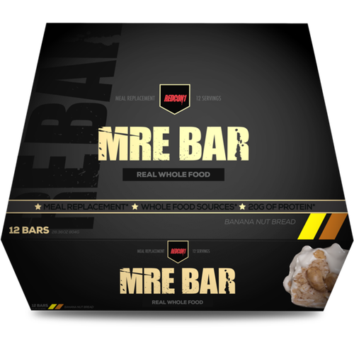 Redcon1 MRE Meal Replacement Bar - 12 Bars Banana Nut Bread (2465882472525)
