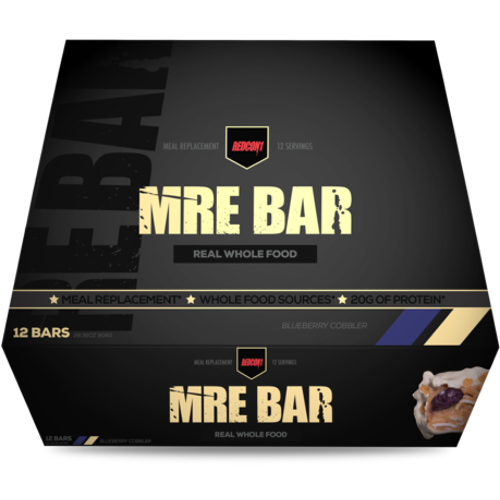 Redcon1 MRE Meal Replacement Bar - 12 Bars Blueberry Cobbler (2465882472525)