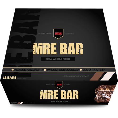 Redcon1 MRE Meal Replacement Bar - 12 Bars German Chocolate Cake (2465882472525)