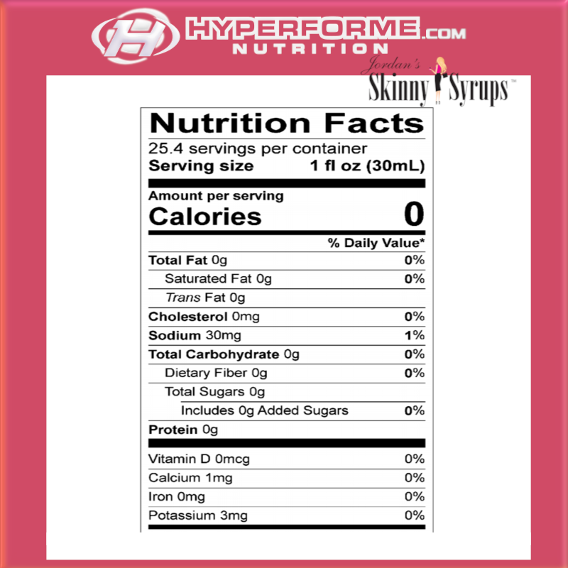 Skinny Mixes Sugar Free Syrup  nutrition facts (2465901281357)